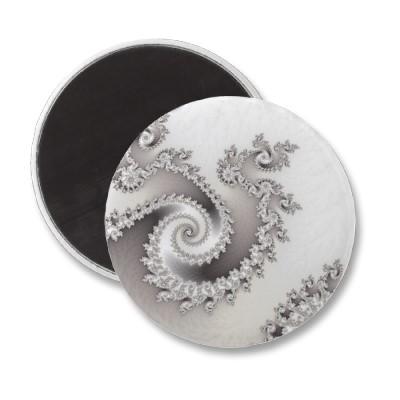 Silver Triple Twirl Magnet