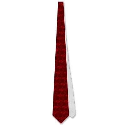 Deep Red Double Spiral Tie