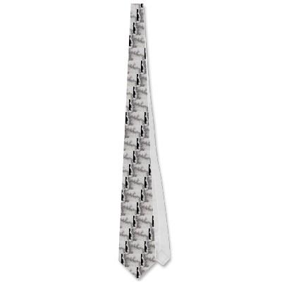 Silver Fault Line Tie
