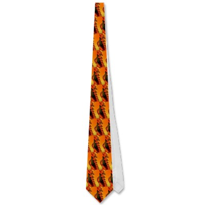 Flaming Lines Tie