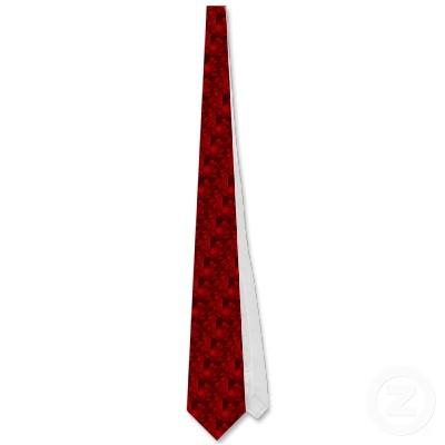 Deep Red Seahorse Herd Tie