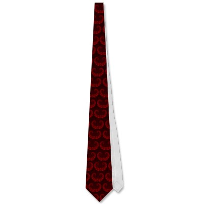 Deep Red Heart Tie