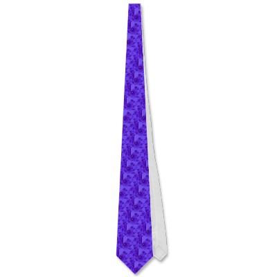 Blue Purple Seahorse Herd Tie