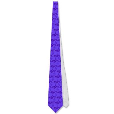 Blue Purple Double Spiral Tie