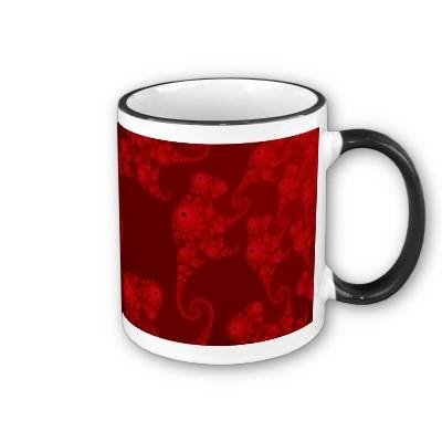 Deep Red Seahorse Herd Mug