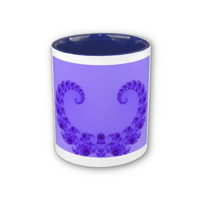 Blue Purple Heart Mug