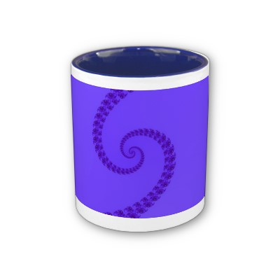 Blue Purple Double Spiral Mug