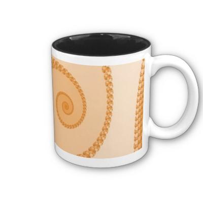 Gold Simple Spiral Mug