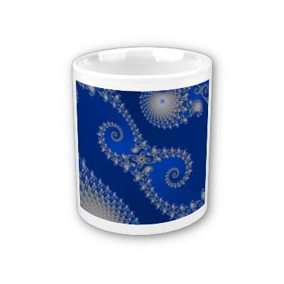 Silver Seahorse Mug