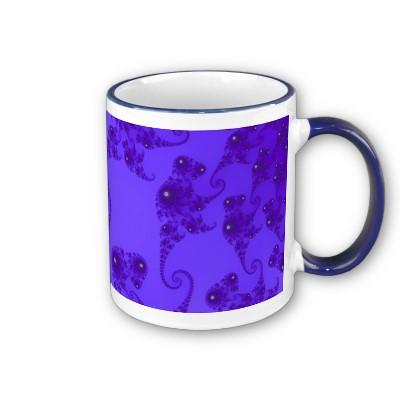 Blue Purple Seahorse Herd Mug