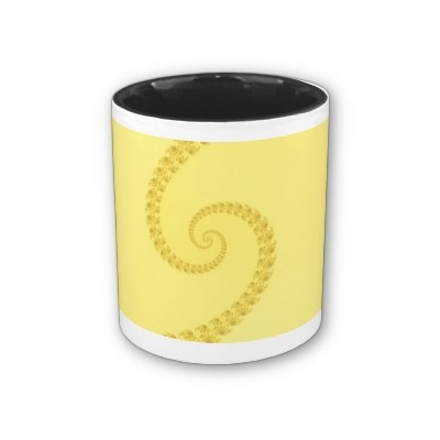 Yellow Gold Double Spiral Mug