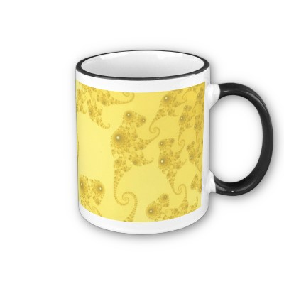 Yellow Gold Seahorse Herd Mug