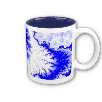 Blue Feathered Star Mug