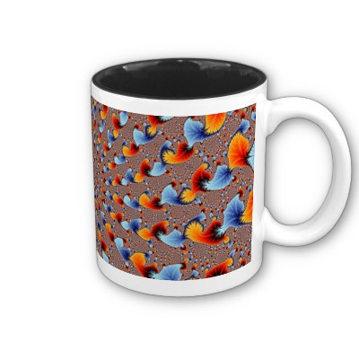 Red and Blue Flames Mug