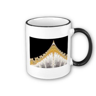 Silver and Gold Volcano Mug