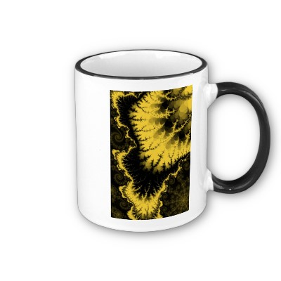 Gold Feathered Star Mug