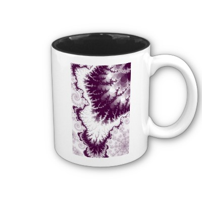 Plum Feathered Star Mug