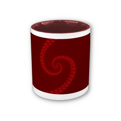 Deep Red Double Spiral Mug