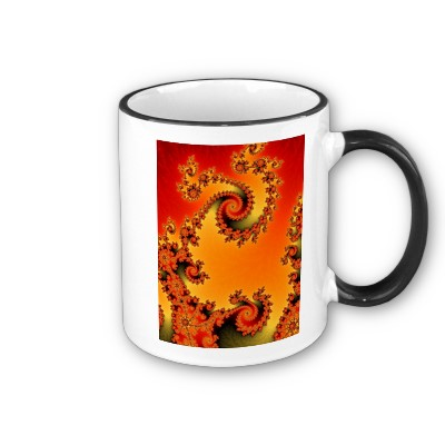 Flaming Hot Double Spiral Mug
