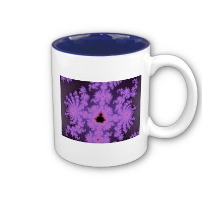 Pink Fronds Mug