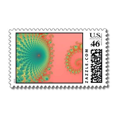 Rainbow Spirole Postage Stamp