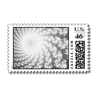 Silver Whirlpool Postage Stamp