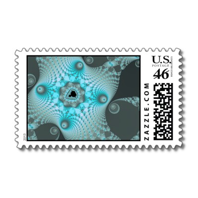 Black Ice Postage Stamp