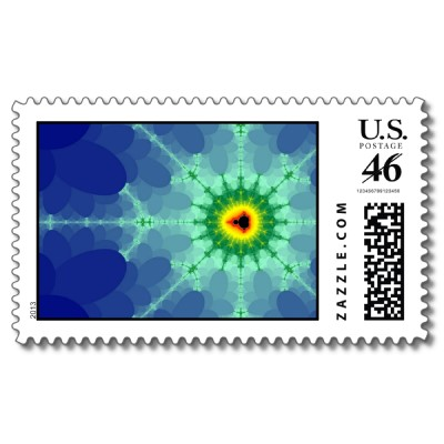 Mandel on a Lilly Pad Postage Stamp