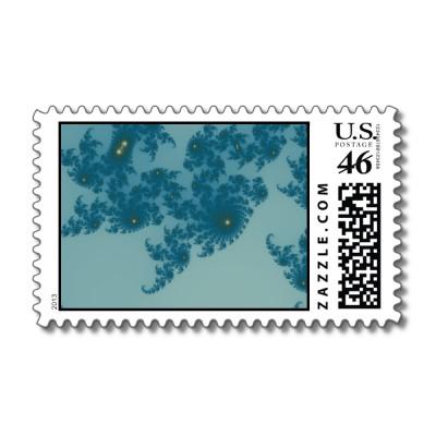 Underwater Ferns Postage Stamp