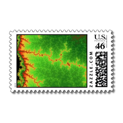 Green Fault Line Postage Stamp