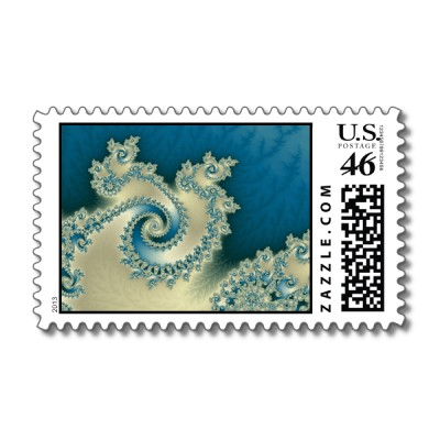 Beach Triple Twirl Postage Stamp