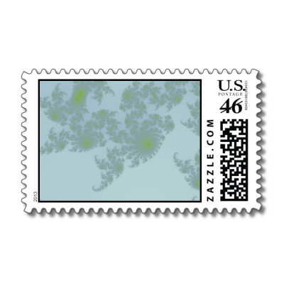 Green Ferns Postage Stamp