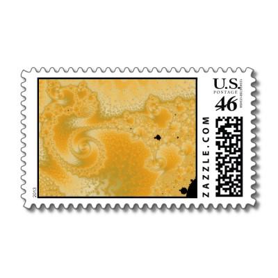 Gold Melt Postage Stamp