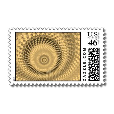 Sepia Roundalls Postage Stamp