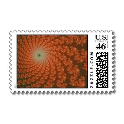 Olive Whirlpool Postage Stamp