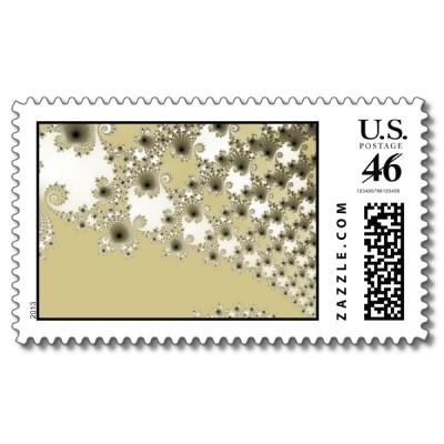 Gold Urchins Postage Stamp
