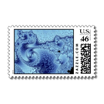 Swirling Deep Postage Stamp