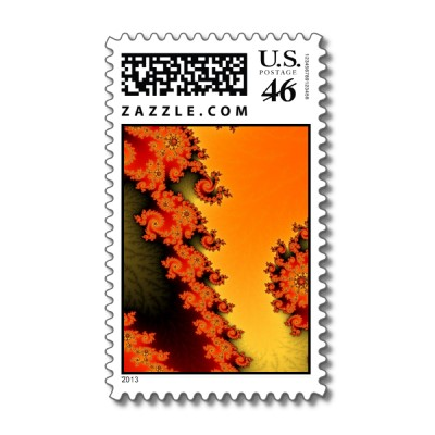 Flaming Lines Postage Stamp