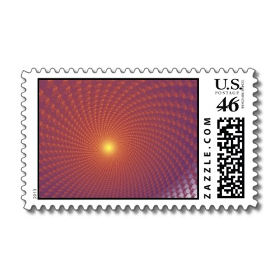 Sunset Postage Stamp