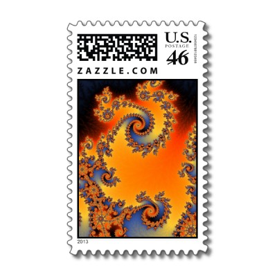 Quenched Double Spiral Postage Stamp