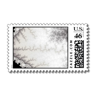 Silver Zigzag Postage Stamp