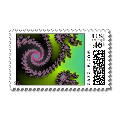 Irridescent Tongues Postage Stamp