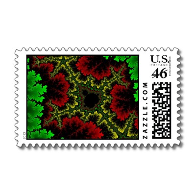Coral Collage Postage Stamp