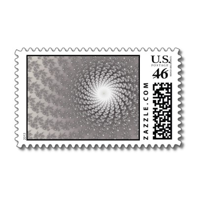 Silver Whirlpool 2 Postage Stamp