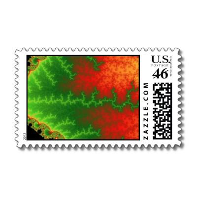Christmas Zigzag Postage Stamp