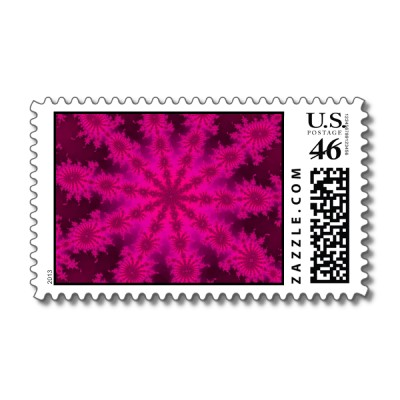 Pink Decasteer Postage Stamp