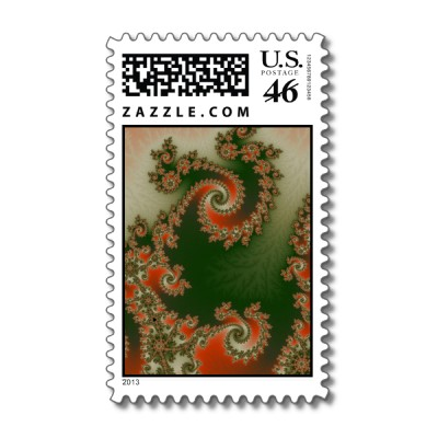 Pimento Olive Double Spiral Postage Stamp