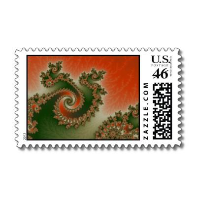 Pimento Olive Triple Twirl Postage Stamp