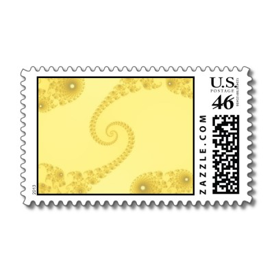 Yellow Gold Double Spiral Postage Stamp