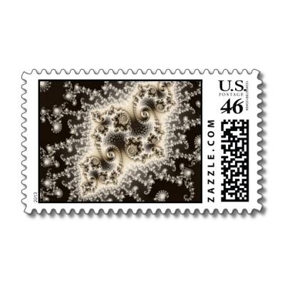 Sepia Brown Jellyfish Postage Stamp